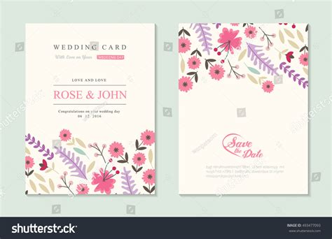 wedding invitation card suite with flower templates free wedding invitation card suite flower templates 스톡 벡터
