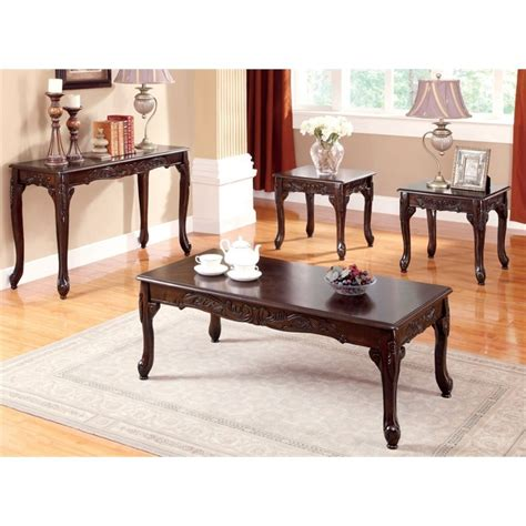 Furniture Of America Living Room Collections Furniture Of America 4 Coffee Table Set Idf 4914 4pc