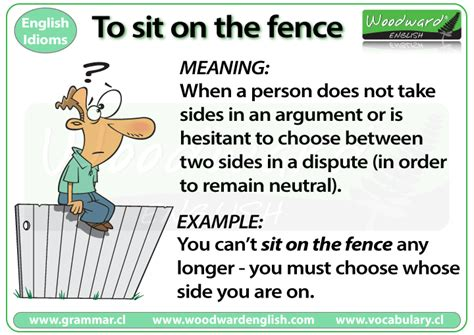 Sitting On The by Sit On The Fence Idiom