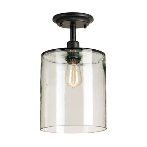 Recycled Glass Light Fixtures Vintage Style Ceiling Light With Blown Recycled Glass Shade 9892 Destination Lighting