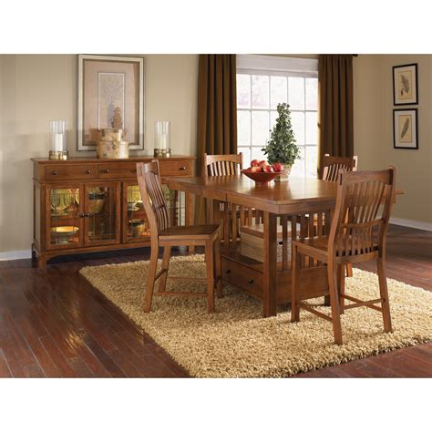 mission oak dining table a america laurelhurst gathering counter height dining
