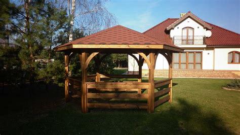 gazebo esagonale in legno mobili da giardino