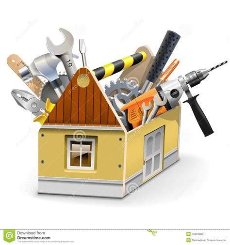vector house toolbox stock vector image of service
