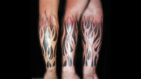 flames tattoo and tattoos cool tattoos bonbaden