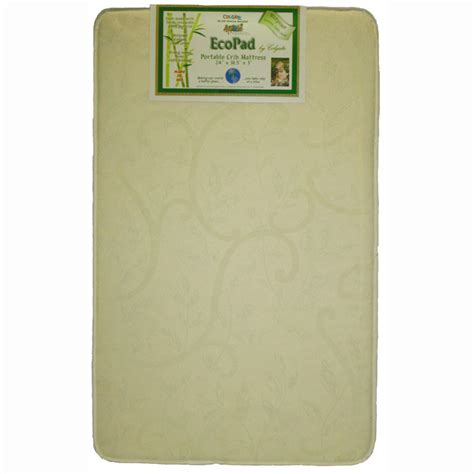 ecopad eco friendlier portable crib mini crib mattress by