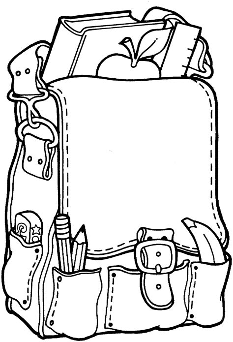 coloring pages of school books free printable coloring page back to school backpack