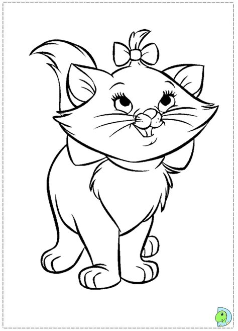 the marie cat coloring page dinokids org