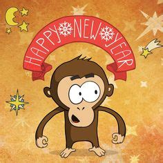 new year of monkey message happy new year 2016 year of the monkey vector