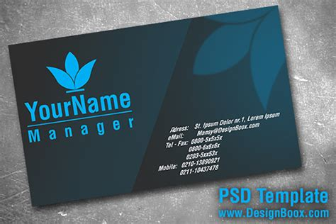 business card size template psd gray and blue business card psd by mansydesigntools on