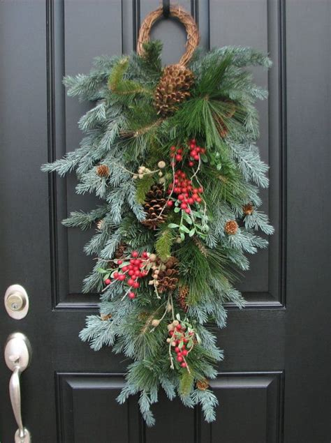 christmas door swag ideas the 25 best ideas about swags on swags for doors merry