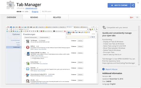 chrome manage extensions top 10 best google chrome tab manager extensions
