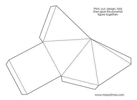 Make A 3d Pyramid Out Of Paper - a 3d pyramid object to cut design fold and glue together