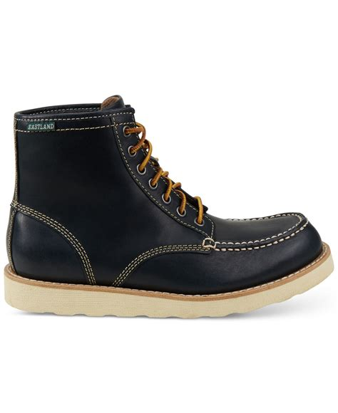 eastland shoes for eastland eastland lumber up boots in black for navy