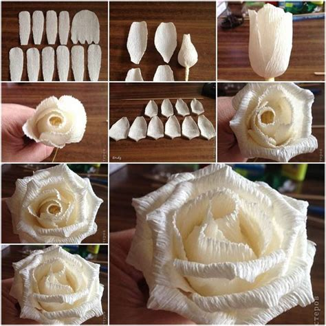Make Easy Paper Roses - how to diy easy from crepe paper at popular
