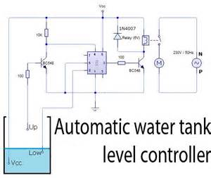 automatic water tank level controller circuit circuit wiring diagrams