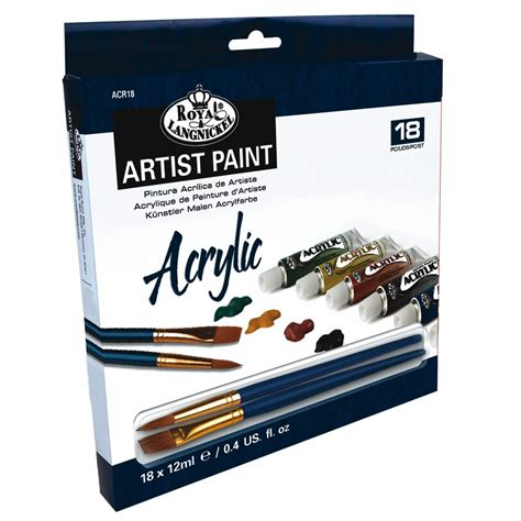 acrylic paint and supplies acrylic artist paint set royal langnickel from