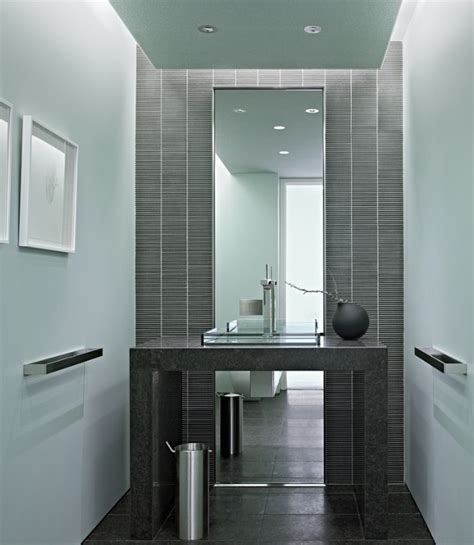 full length bathroom mirror half bath with full length mirror powder room pinterest