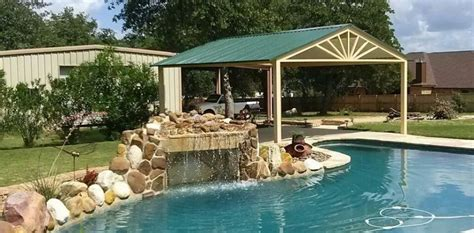 Swimming Pool Awnings by Custom Free Standing Awning Swimming Pool La Vernia Carport Patio Covers Awnings