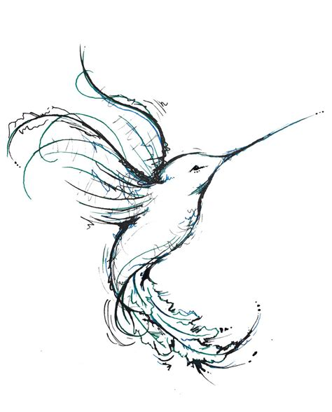 Hummingbird Outline by Hummingbird Tattoos