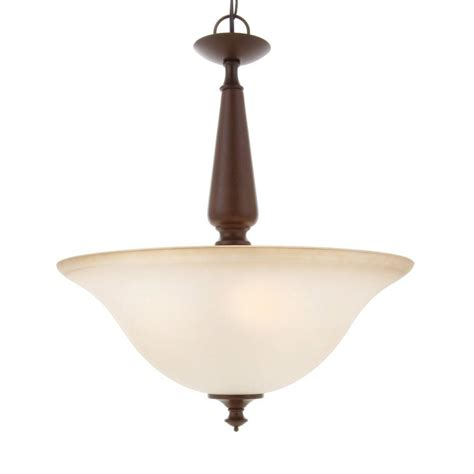 Commercial Pendant Lights Commercial Electric 3 Light Nutmeg Pendant Efh8913m The Home Depot