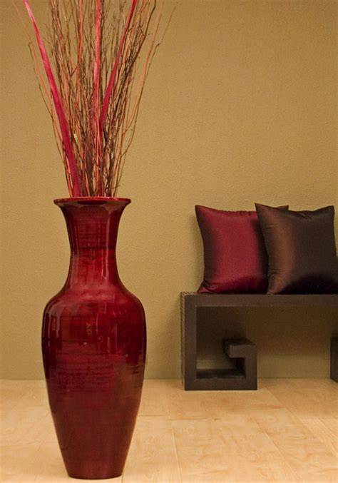 Floor Vase Arrangement by Bamboo Floor Vase With Floral Arrangement