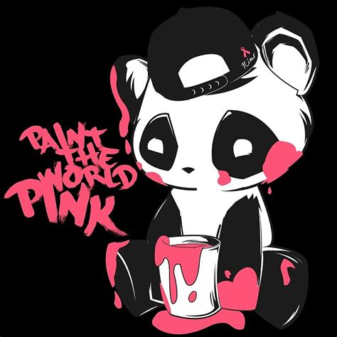 Panda Pink by Quot Pink Panda Quot Posters By Panda Redbubble