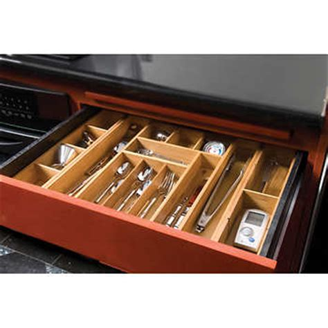 expandable drawer organizer trays seville classics 174 expandable bamboo drawer organizer w 2