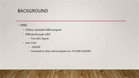 Coursera Mba Application by Imba Initial Unofficial Evaluation Plan