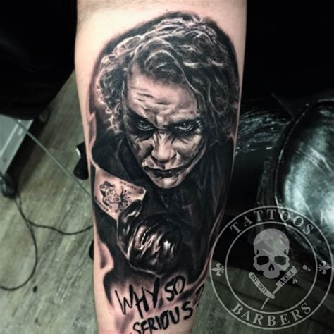 black and grey joker tattoo tattoo studio a cut of art tattoo shop and barbershop