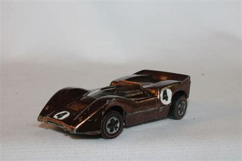 Hotwheels Original 14 wheels redline mclaren m6a spectraflame metallic brown original ebay