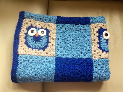 Crochet Owl Pattern Blanket by The Suburban Daffodil Crochet Notes Ollie Owl Blanket