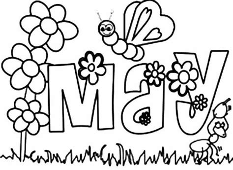 flowers of the month coloring pages free printable may coloring pages may day coloring pages
