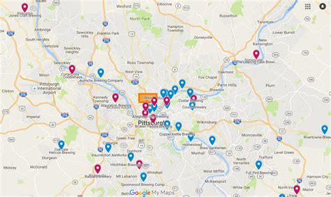 western pa map map of breweries in pennsylvania brew the museum of