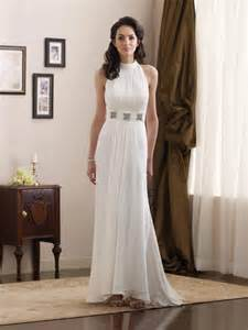 informal wedding dresses simple high halter jeweled broach chiffon informal wedding