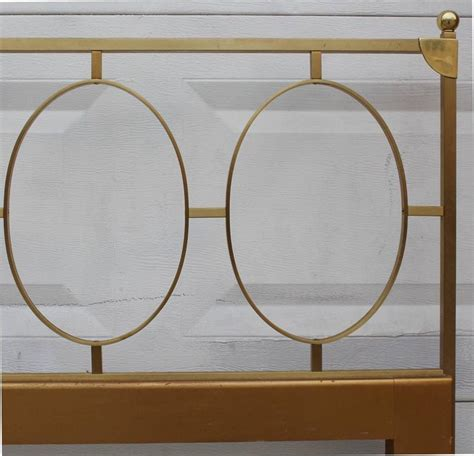 1970s king size bedroom set in brass and black mirrored a 1970s king size headboard in brass for sale at 1stdibs