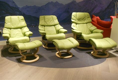 green leather recliner chair stressless paloma green leather by ekornes stressless
