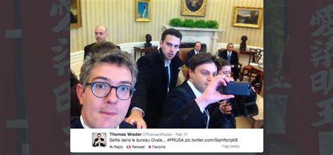 le bureau blanche quot selfiegate quot un journaliste du quot monde quot s explique apr 232 s une photo dans le bureau ovale