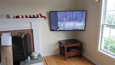 tv in corner of room burlington ct tv mounting in corner richey llc audio experts