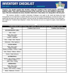 inventory checklist template sle inventory checklist 16 documents in word excel pdf