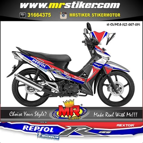 Keranjang Supra X 125 supra x 125 repsol stiker motor striping motor suka