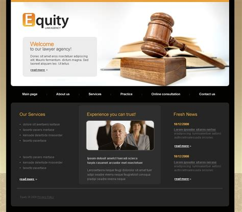 Law Firm Website Template 21113 Firm Templates