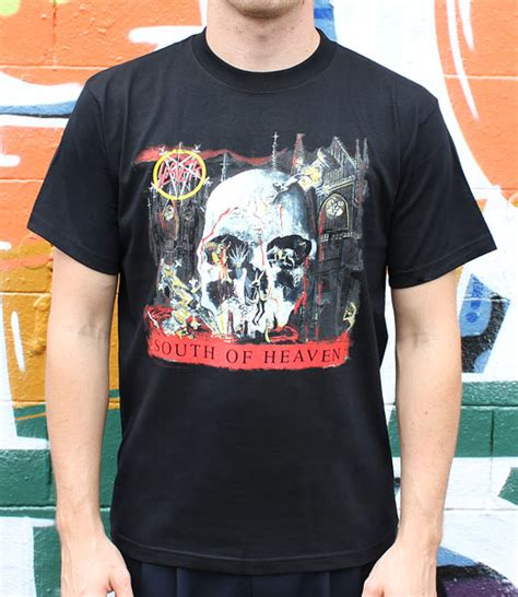 Kaos Slayer World Ensemble Gildan Tshirt slayer south of heaven sla003 29 00 bandtees official band t shirts band merch and