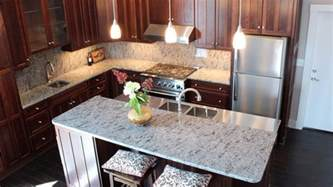 Cherry Oak Kitchen Cabinets 15 different granite kitchen countertops home design lover