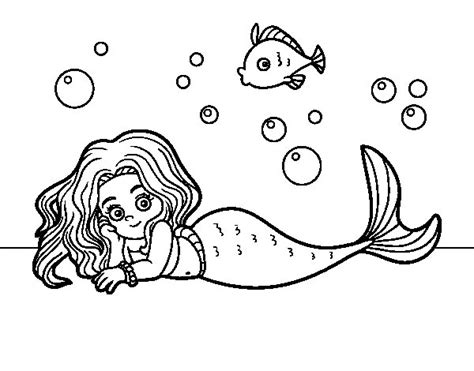 beautiful mermaid coloring page coloringcrew com