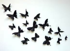 3d wall butterflies 60 assorted black butterfly silhouettes nursery