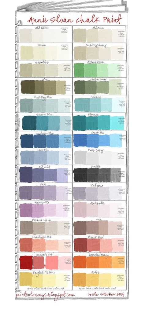 chalk paint mixed colors sloan swatches when mixed with white