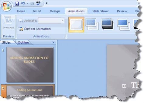 tutorial powerpoint animation 2007 how to add custom animations in powerpoint 2007 wiki