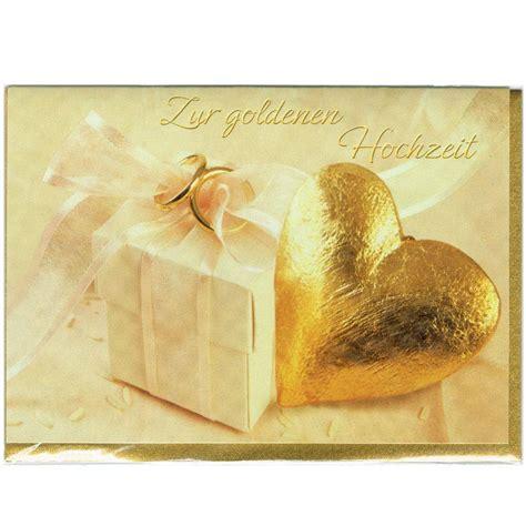 Goldene Hochzeit Karte by Karte Goldene Hochzeit Festpost De