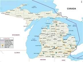 Michigan Usa Map by Map Of Michigan State Map Of Usa