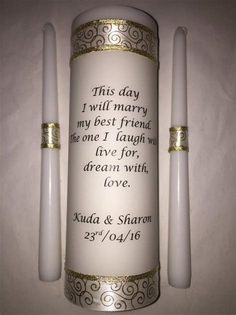 Wedding Ceremony With Unity Candle by Wedding Unity Candle Set Ceremony Candle Personalized